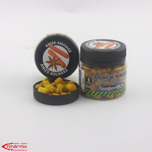 FG Fluo měkké pelety 50g Black Magic